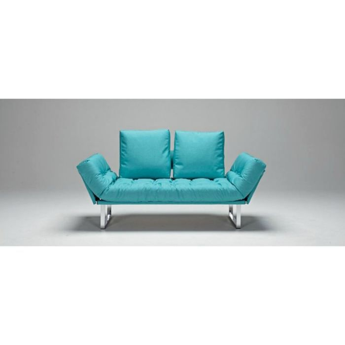 Canap lit design rollo bleu convertible 200 80cm achat for Canape lit design