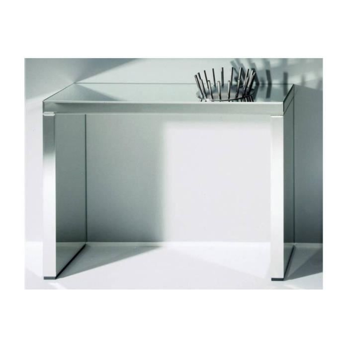 exceptional table console en verre 6 keops table console en verre miroir grand mod le homeezy. Black Bedroom Furniture Sets. Home Design Ideas