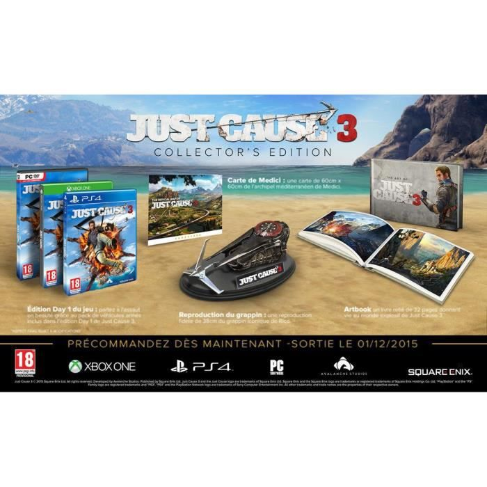JEU PS4 Just Cause 3 edition collector