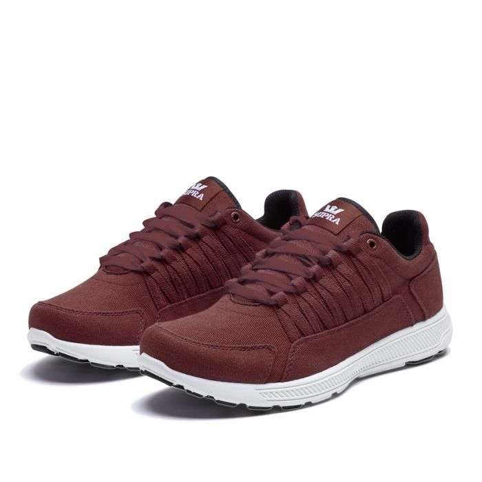 Shoes SUPRA OWEN BURGUNDY / WHIT...