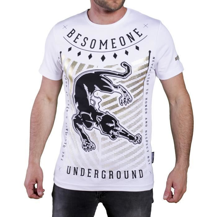 besomeone tee shirt homme blanc achat vente t shirt cdiscount. Black Bedroom Furniture Sets. Home Design Ideas
