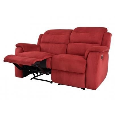 canap 2 places relax en microfibre simono rouge achat. Black Bedroom Furniture Sets. Home Design Ideas