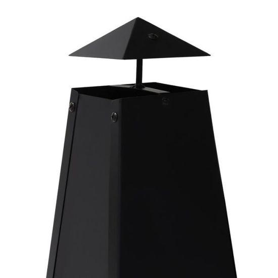 Brasero de jardin Memphis en acier noir