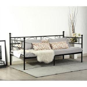 STRUCTURE DE LIT Cadre de lit contemporain unique Canapé-Lit métal