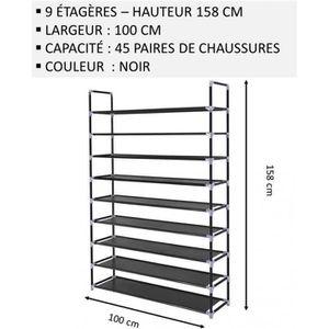 MEUBLE ÉTAGÈRE Meuble Chaussures,No62, Modulable 2 14 Étagères (1