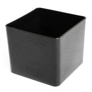 JARDINIÈRE - POT FLEUR  Jardinière en Plastique Cube 10.5cm Noir - Jardini
