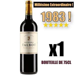 VIN ROUGE X1 Connétable Talbot 1983 75 cl AOC Saint-Julien 2