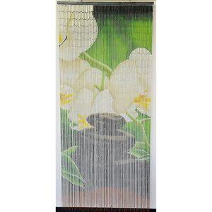 RIDEAU DE PORTE Rideau de porte Perles Bambou,Intérieur et Extérie