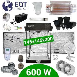KIT DE CULTURE Pack Box 600W Cooltube 150x150 - Black Box 2 + Sup