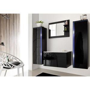 SALLE DE BAIN COMPLETE Salle de bain complète DREAM noir façade laqué, br