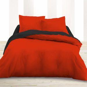 HOUSSE DE COUETTE SEULE Housse de couette 220 x 240 unie rouge 100% Coton