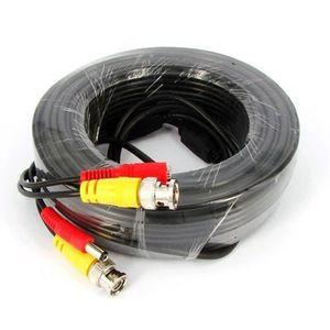 CÂBLE AUDIO VIDÉO Kabalo 30m câble CCTV BNC pour les systèmes de cam