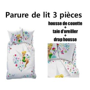 drap fee clochette achat vente drap fee clochette pas cher cdiscount. Black Bedroom Furniture Sets. Home Design Ideas