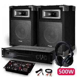 PACK SONO Pack Sono Dj IBIZA 2 Enceintes + Amplificateur 500