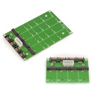 CARTE CONTROLEUR Adaptateur pour 1 à 4 M2 (NGFF) vers SATA 3 - Supp