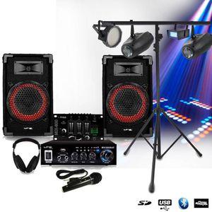 JEUX DE LUMIERE Pack SONO Complet DJ-PLAYER NIGHT + STROBES + LEDP