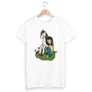 T-SHIRT T-Shirt licorne illustration ref 1155 - Taille:M