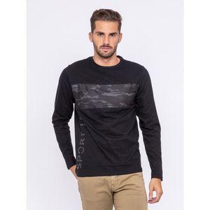 T-SHIRT T-shirt manches longues col rond pur coton JILATIX