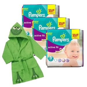 COUCHE Pack bébé propre 282 Couches Pampers Active Fit +