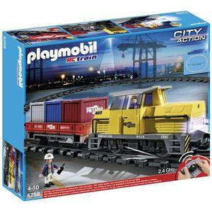 UNIVERS MINIATURE PLAYMOBIL 5258 Train Porte-Conteneurs RC