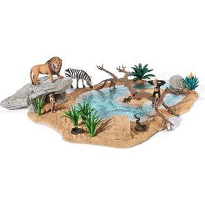 Schleich 42258 Animal Abreuvoir plastique Figure World of Nature-Wild vie