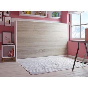 LIT ESCAMOTABLE SMARTBett Basic 120x200  horizontal blanc/chêne so