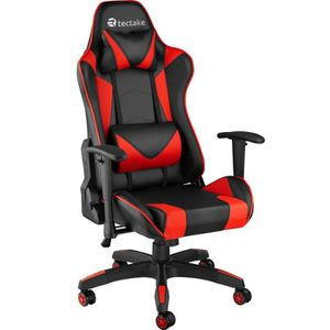 CHAISE DE BUREAU TECTAKE Chaise de Bureau Design Gamer ergonomique
