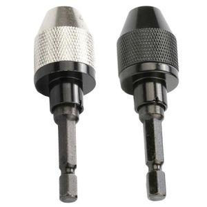 Noir Mandrin de per/çage /à cl/é durable de 1,5 /à 10 mm 3//8-24UNF Adaptateur darbre de montage de filetage Adaptateur de mandrin de per/çage Ensemble de cl/és de mandrin de foret