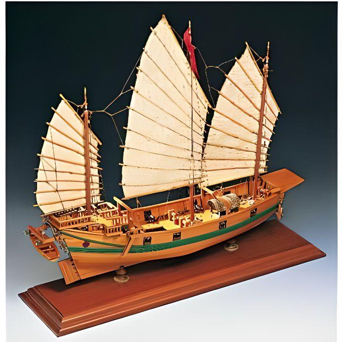 Maquette bateau en bois : Jonque Chinoise aille Unique Coloris Unique