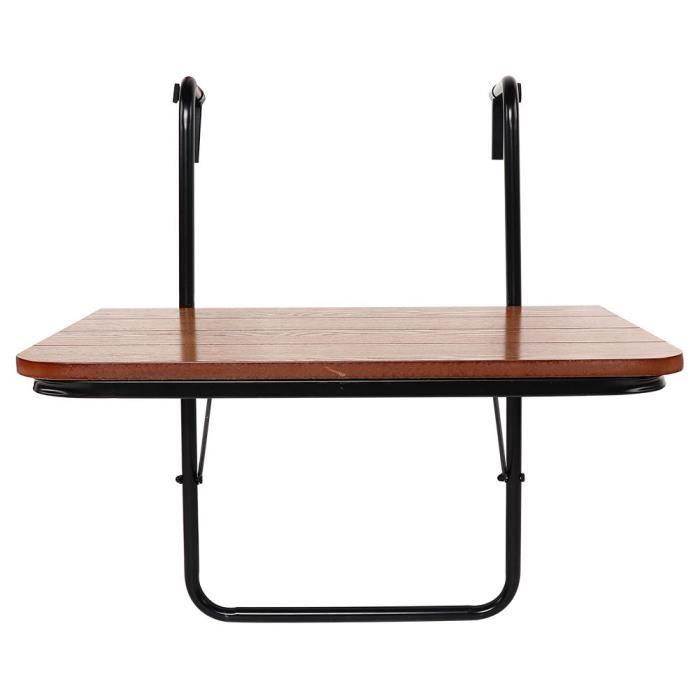 Balcon Table suspendue Garde-corps de haute qualité Support en fer Table de jardin pliante -TAM
