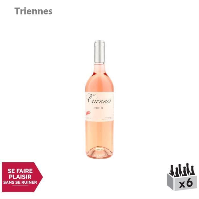 Triennes Méditerranée Rosé 2019 - Lot de 6x75cl - Vin IGP Rosé de Provence - Cépages Merlot, Grenache, Syrah