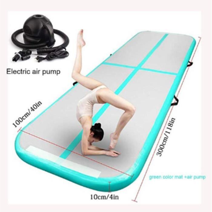3M matelas de gymnastique gonflable Gym dégringolade Air piste plancher culbutant Air piste tapis vert