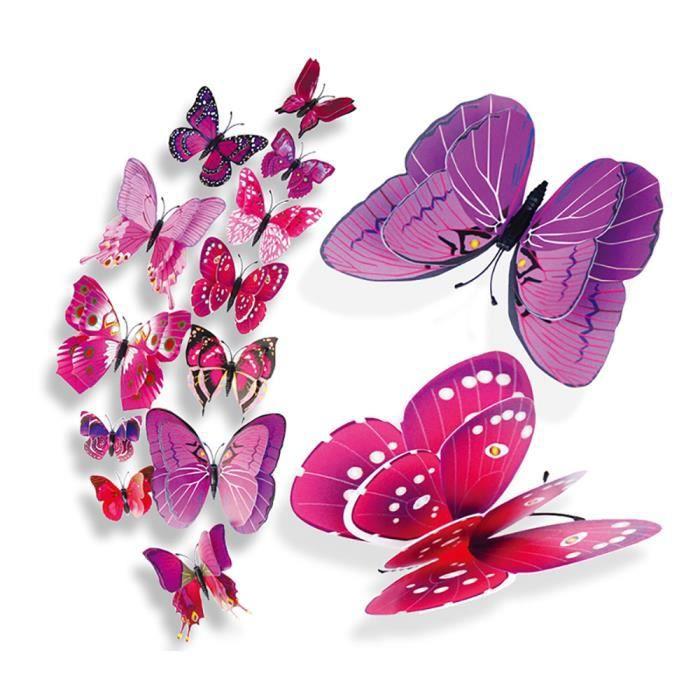 3D bricolage broche type décor à la maison papillon rideau robe décorer accessoire - likaiyehio 7737