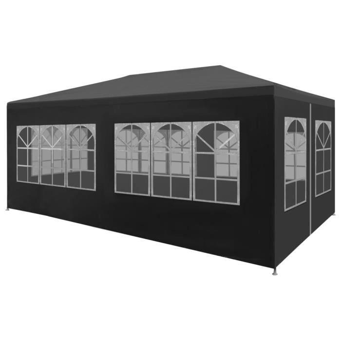 Tente de réception 3 x 6 m Anthracite -PAI