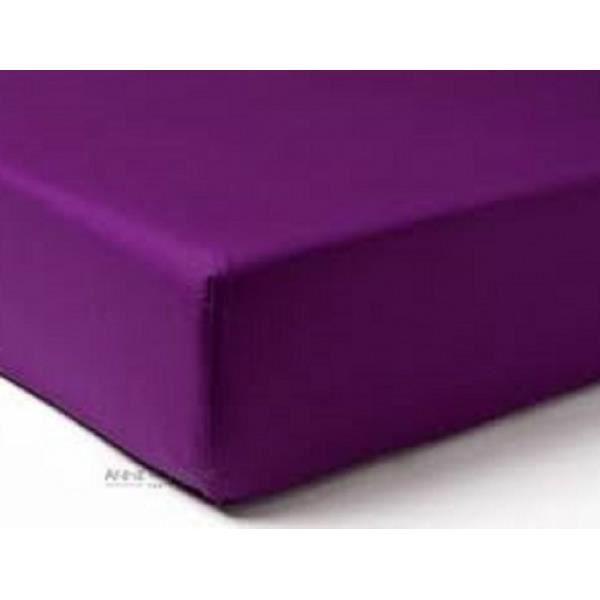 Drap Housse Jersey 180x200 Bonnet 30cm Coton Extensible Mûre