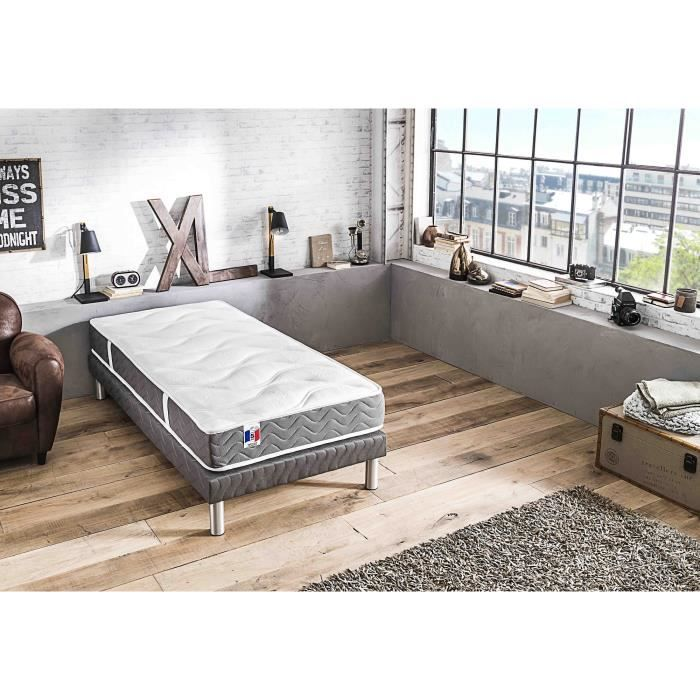 CONFORT DESIGN Matelas 90 x 190 - Latex - 19 cm - Ferme - BARCELONA