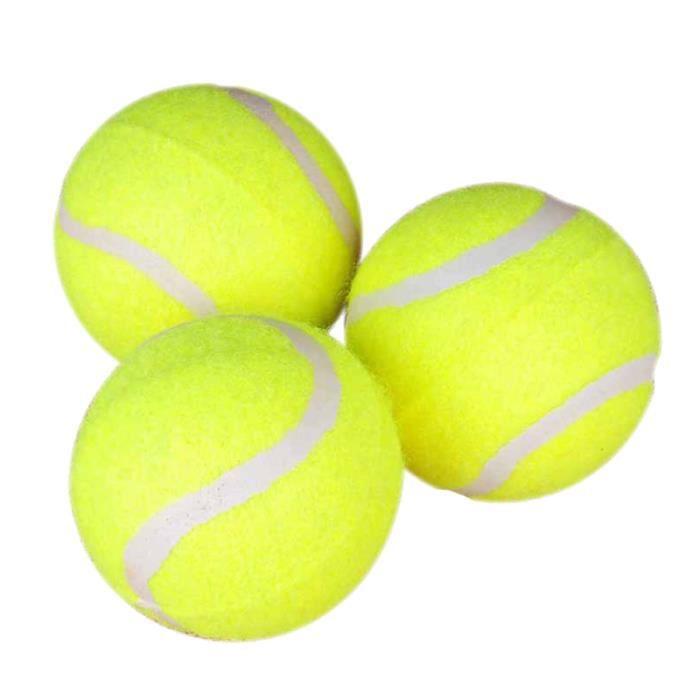 3 pièces balle de Tennis haute élasticité Durable réutilisable de tennis régulière accessoire de pour débutants en TENNIS BALL