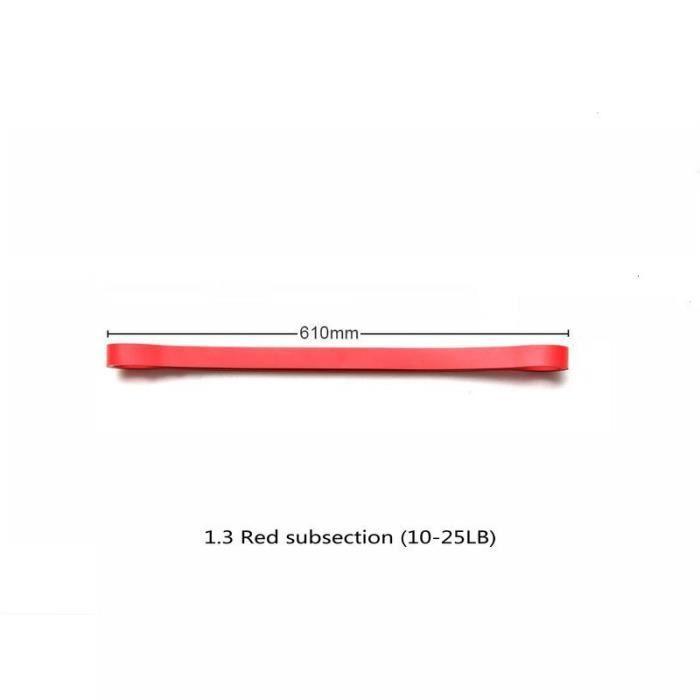 1PC 3 niveau Fitness bandes de caoutchouc bande de résistance unisexe 60Cm Yoga bandes élastiques b - Modèle: Rouge - HSJSTLDB01184