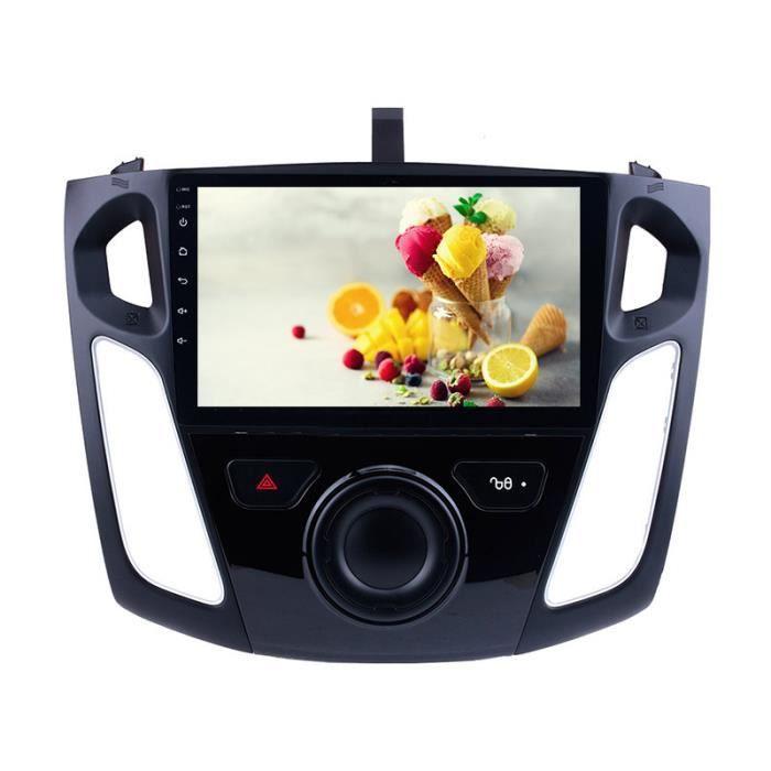 2Din 1 + 16GB GPS 9 -Android 9.1 lecteur d'autoradio Wifi stéréo pour Ford Focus 2011 2012 2013 2014 2015 unité de tête de véhicule