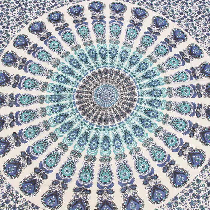 Tenture Murale Tapisserie Mandala Bohémienne Style Hippie Couvre-Lit Drap De Plage TYPE C la21566
