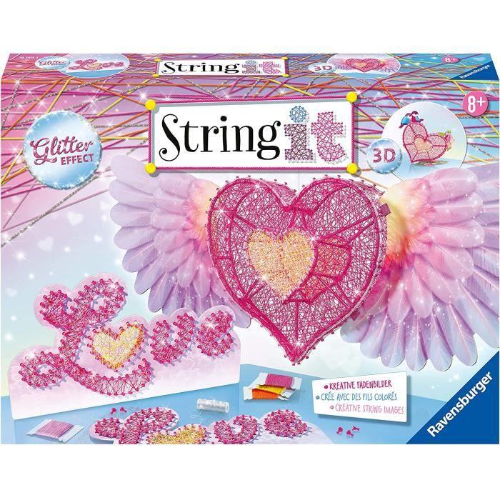 Kits de loisirs créatifs Ravensburger - String It Coeur - string'art - création - Jeu créatif - enfants dès 8 ans - 1806 54043