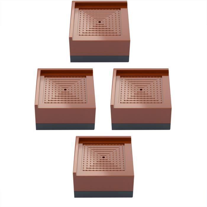 Rehausseur de pied de lit Meubles universels de base de tapis rehausseur carré Réfrigérateur 4 pcs - Beguinstore 1930