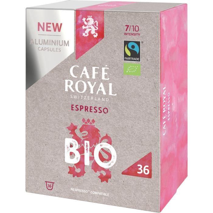 CAFE ROYAL compatible Nespresso Alu Espresso BIO x36