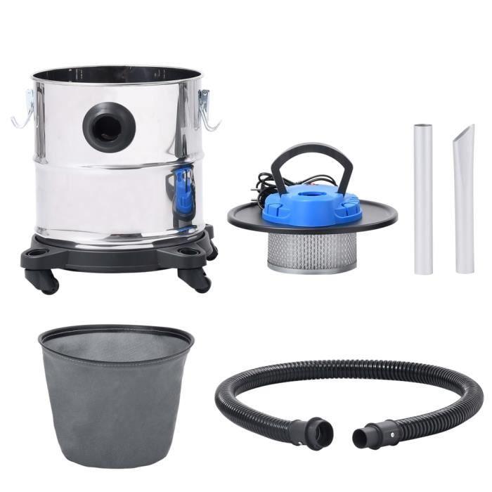 Alalune Aspirateur à cendres et filtre HEPA 1200W 20 L Acier inoxydable