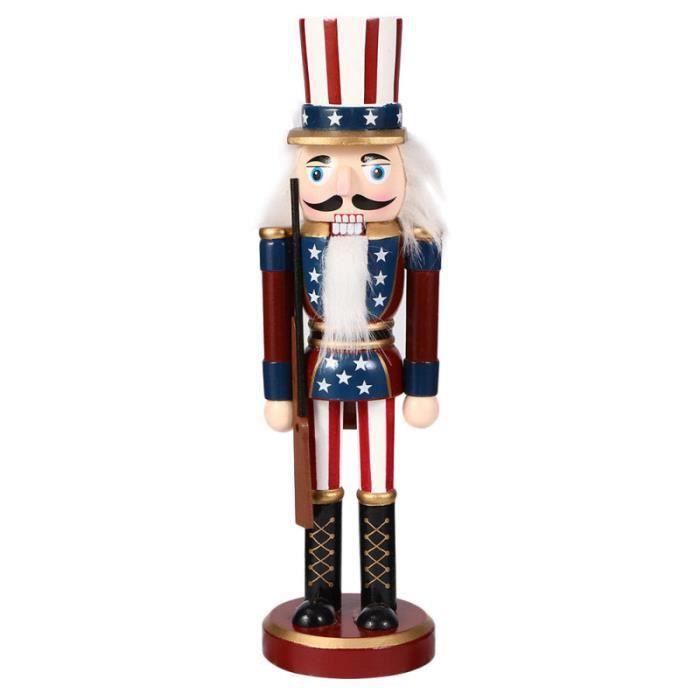 1pc Noël Casse-Noisette Noisette Noix de chiche Noyer Soldat pour figurine miniature - personnage miniature monde miniature