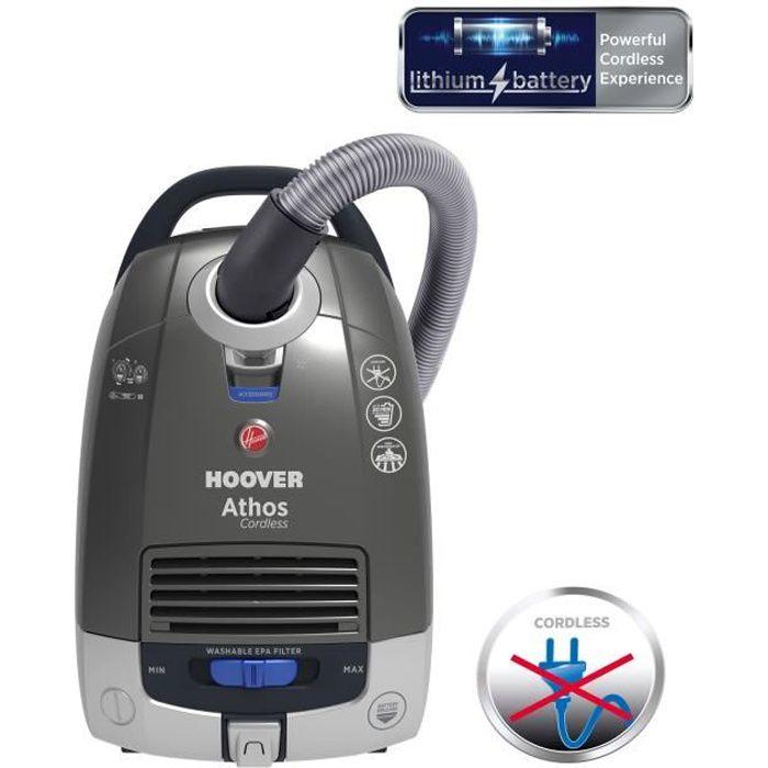 HOOVER ATC18LI Aspirateur Traineau - Sans Fil - Batterie Lithium HD - 72 dB - 5 L - Autonomie 30 min