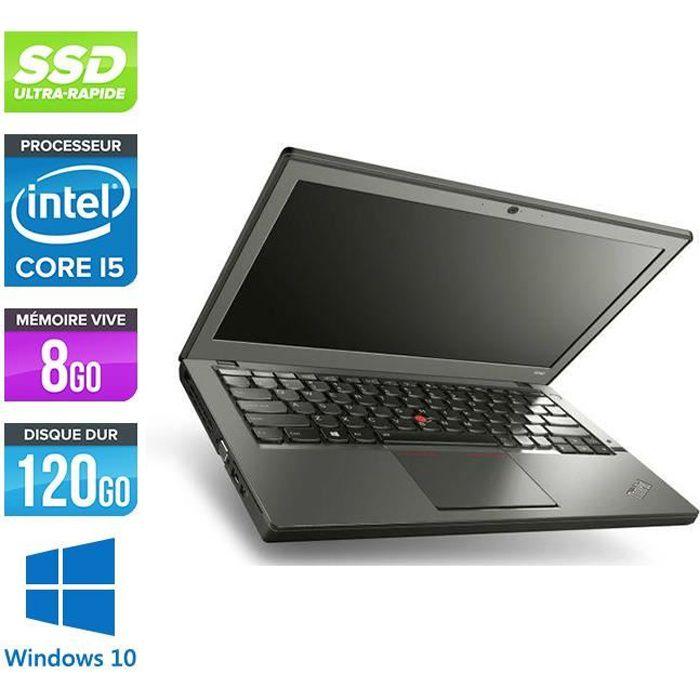 Pc portable Lenovo X240 i5 8Go 120 Go Ssd 12,5'' W10