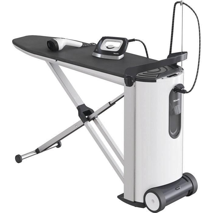 MIELE FashionMaster B 3847 Repasseuse - 2200 W - Vapeur constante : 100g/min - 4 bar - Table réglable de 83 à 102 cm