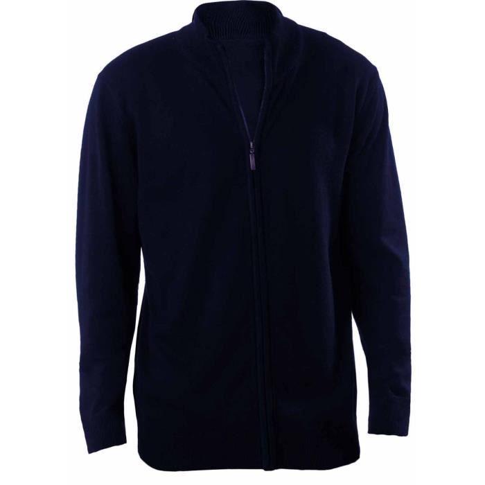 Gilet boutonné cardigan K961 - homme - bleu marine