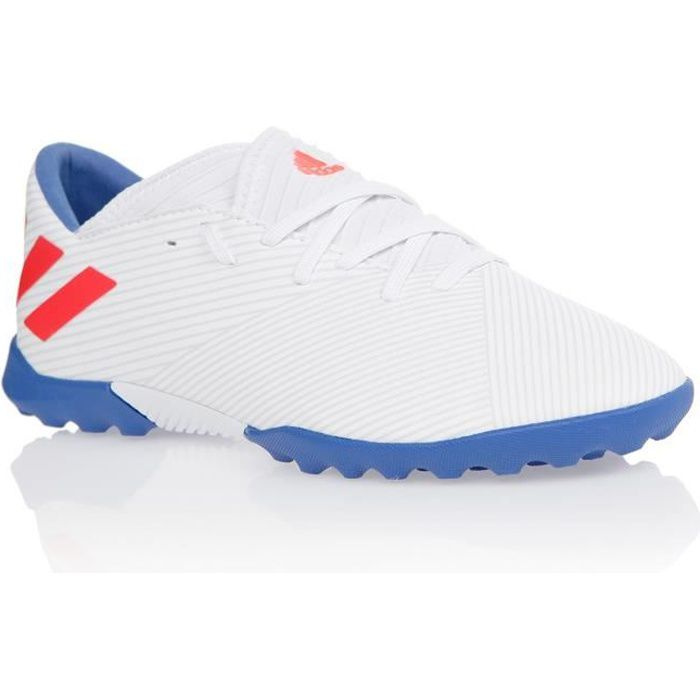 ADIDAS PERFORMANCE Chaussures de Football Nemeziz Messi 19.3 TF J - Enfant - Blanc/Rouge/Bleu